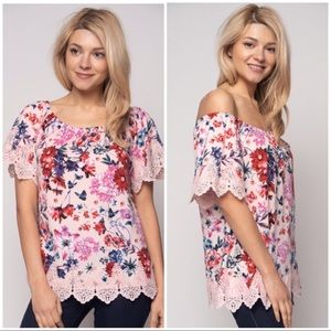 Tops - Floral Knit Top